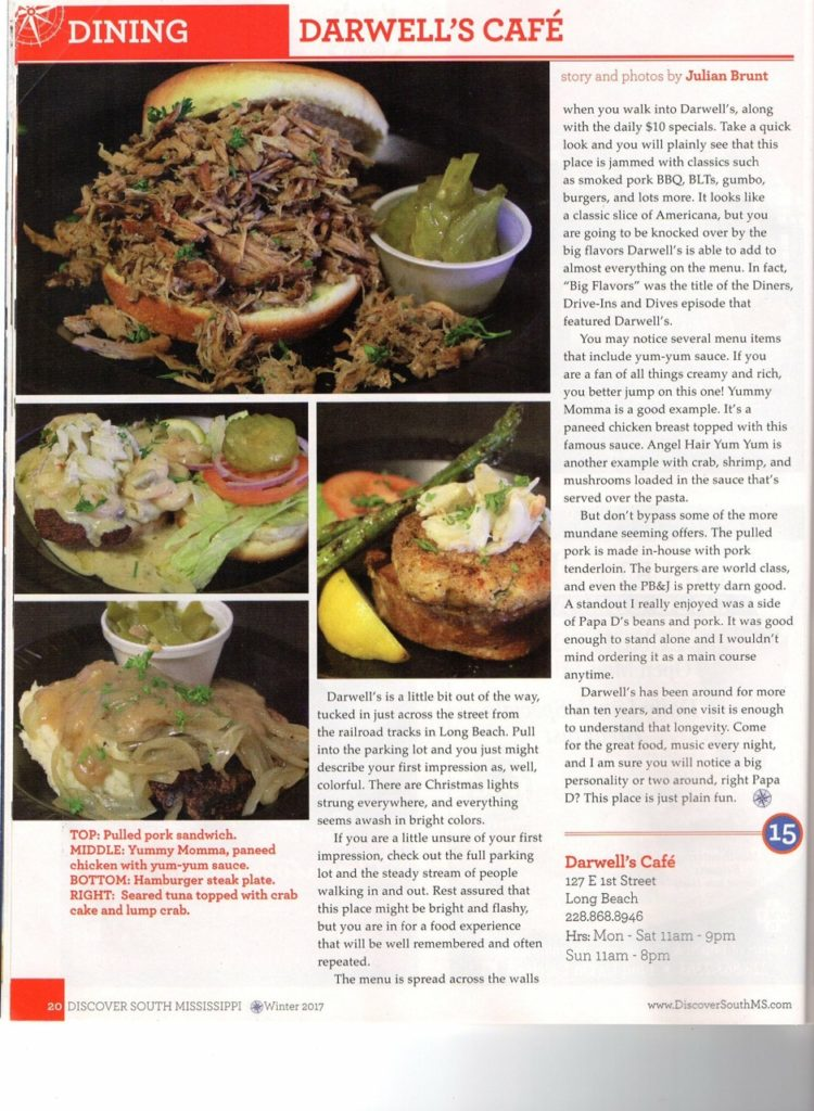 Darwell's Cafe Discover Mississippi Review